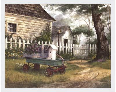 アンティークワゴンby Michael Humphries – 20 x 16インチ – アートプリントポスター LE_458661-F8989-20x16 B01MUDI0GW Classic White Frame