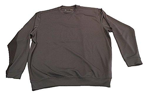 (Pebble Beach Men;s Performance Long Sleeve (Medium, Dark Grey))