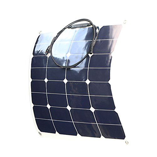 ALLPOWERS 18V 12V 50W Bendable SunPower Solar Panel Water/ Shock/ Dust Resistant Power Solar Charger for RV, boat, cabin, tent, or any other irregular surface