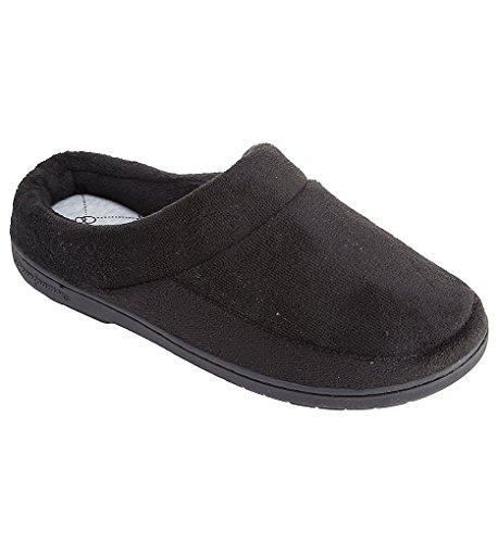Dearfoams Microfiber Terry Moc Toe Clog (517111) XL/Black