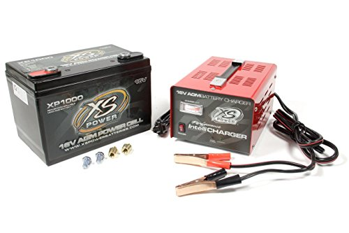 XS Power XP1000CK2 XP1000 16V Battery and 16V 15 Amp IntelliCharger Combo with 3/8
