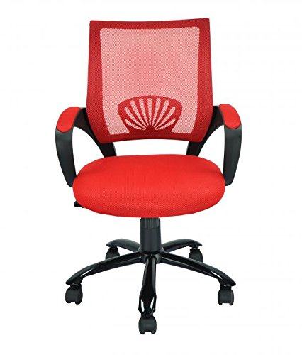 cheap mid back mesh ergonomic computer desk office chair red one