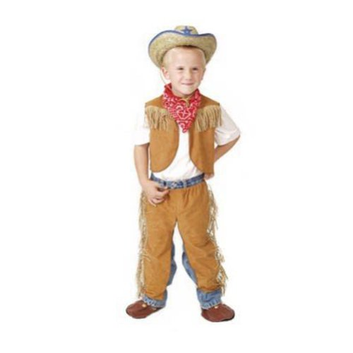 Boys Brown Size 4/6 Western Dressup Halloween Costume Cowboy Set - no hat (Halloween Costumes Cowboy)