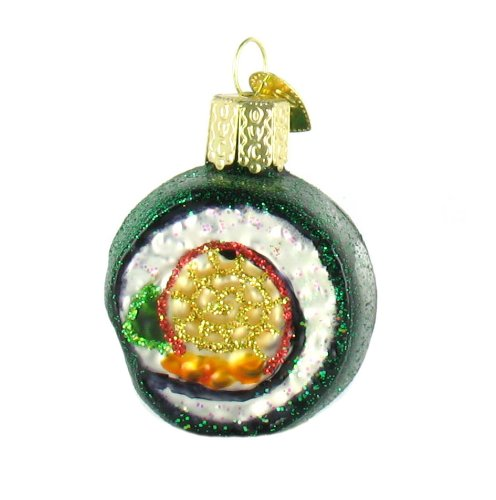 Fish Old World Christmas Ornament (Old World Christmas Sushi Roll Glass Blown Ornament)