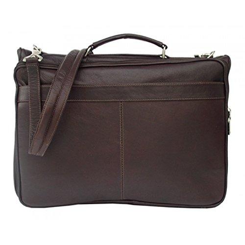 (Piel Leather Entrepeneur Double Executive Computer Bag in Chocolate)
