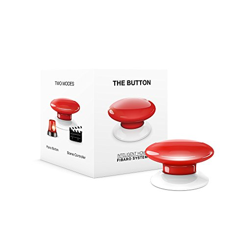 Fibaro FGPB-101-3 US The Button, Z-Wave Scene Controller, Red by Fibaro