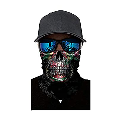 Simayixx Men's Face Protection Cover for Fishing Hunting Yard Work Motorcycle Unisex Turban Sunscreen Windproof Dust (E, Free Size): Clothing
