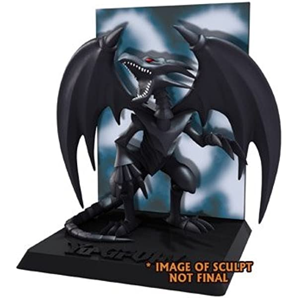 Amazon Com Neca Yu Gi Oh Red Eyes Black Dragon With Deluxe Display 3 3 4 Figure Series 2 Toys Games