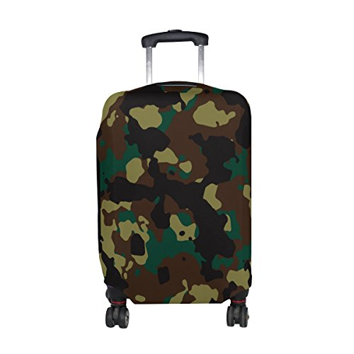 Military Camo Camouflage Pattern Print Travel Luggage Protector Baggage Suitcase Cover Fits 23-26 Inch Luggage