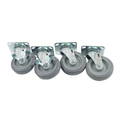 Generic 35803 Caster Set, Large Plate Mount, 5'' Wheel, Brakes by Generic