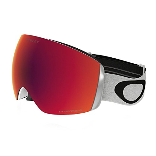 Oakley Flight Deck XM Mens Snow Snowmobile Goggles Eyewear - Matte White/Prizm Torch/One Size Fits All