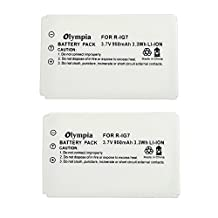 2 Pack Logitech Harmony One Battery - Replacement for Logitech Universal Remote (950mAh 3.7V Li-ion)