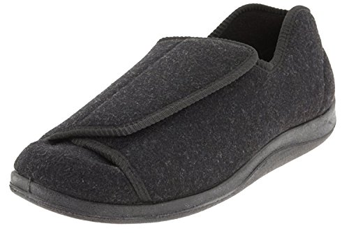 Foamtreads Mens Doctor Boa Slipper, Grey, Size 12