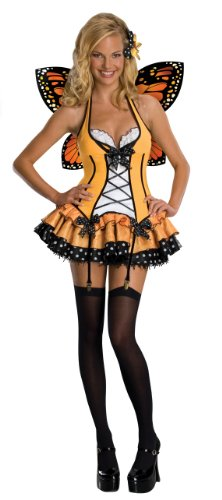 [Secret Wishes  Fantasy Butterfly Costume, Orange, Large] (Orange Adult Butterfly Costumes)