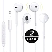 ViiVor 3PACK Headphones Premium Quality Earphones Earbuds with Mic & Remote Control Fully Compatible with Apple iPhone 6S/6S Plus, 6/6 Plus / SE / 5S / 5C / 5 / 4 / 4S / iPad / iPod Touch 5th / 4th Gen … (2pack)