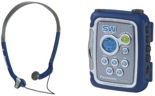Blue Panasonic RQ-SW48VBLU AM-FM Walkman