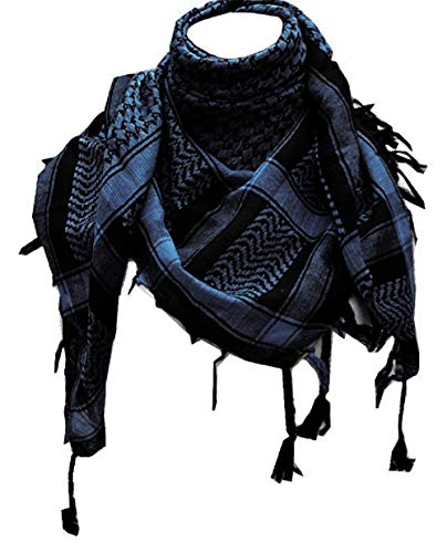 Shemagh Head Neck Scarf Tactical Military Arab Keffiyeh, Blue, Size Free Size from Percy Perry