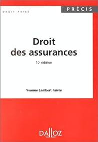 Droit des assurances par Yvonne Lambert-Faivre