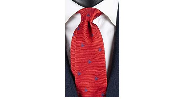 Corbata roja con fantasía azul Art. 4482: Amazon.es: Ropa y ...