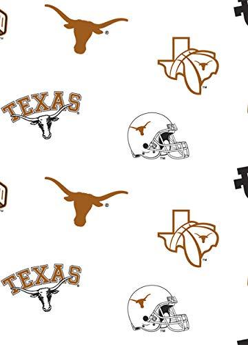 University of Texas Fine Cotton Classic White Ground Allover Design