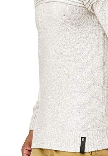 Indicode Thibault Veste Mix Gilet Tricot Pullover Homme Pull En Ecru rOqgSrFw