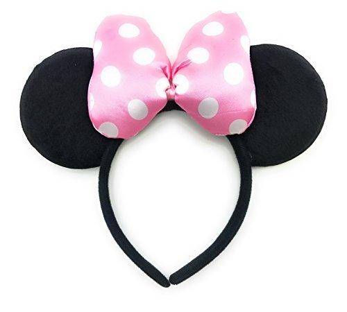 MeeTHan Minnie Mouse Ear Headband: M4 (Dot Bow Pink1) ()
