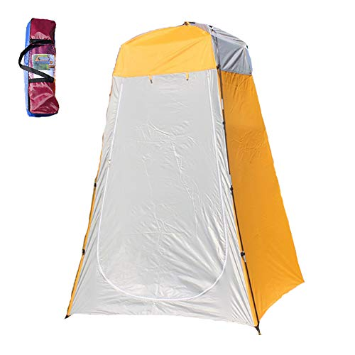 Cheetop Portable Toilet Camping Shower Tent (Silver Orange)