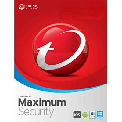 Trend Micro Maximum Security 12(2018) 5 Devices 1 Year Subscription | PC/Mac | Media Download