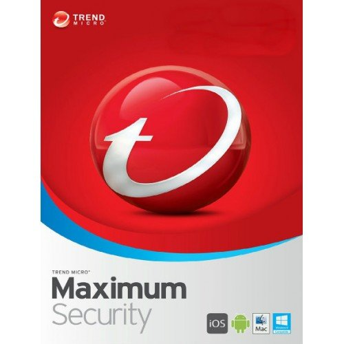 - Trend Micro Maximum Security 12 (2019) 5 Devices 1 Year Subscription | PC/Mac | Media Download