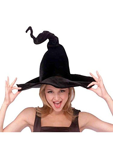 Rubie's Women's Wired Velour Witch Hat, black, One
