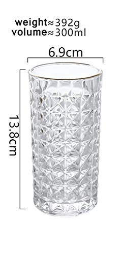 British Style Water Glasses 300 ml High-Quality Glassware Drink Water Juice Dishwasher Safe Crystal Glasses Set of 6