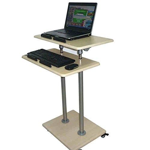 Desk Xiaolin Stand-up Computer Stand-up Stand-up Laptop Table Stand Mesa de Libro Mesa de Oficina Mesa Ajustable Altura de la Altura Polea Opcional Tamano (Tamano : 85-138cm)