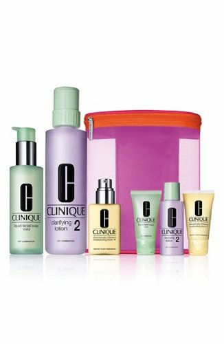 Clinique Great Skin Home & Away Set - Skin Type 1, 2 By Clinique