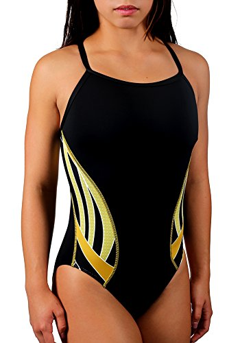 Adoretex Girls/Womens Side Wings Thin Strap One Piece Swimsuit