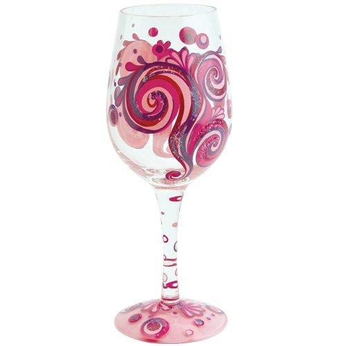 Santa Barbara Design Studio GLS11-5522U Lolita Love My Wine Hand Painted Glass, Razzmatazz
