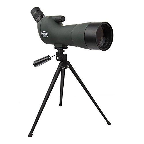 ECOOPRO 20-60 x 60AE Spektiv, 45 Grad abgewinkelt Okular, wasserdicht und gegen Beschlag geschützt, mit Stativ für Sport-, Optik Zoom 36-19 M/1000 M (Tief Grün)