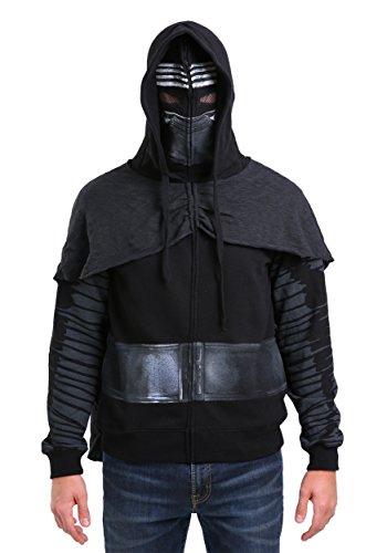 [Star Wars I Am Kylo Ren Zip Up Costume Hoodie, Small Black] (Star Wars Mens Zip Up Costume Hoodie)