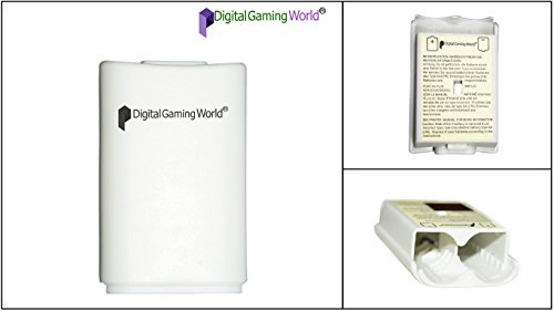 Digital Gaming World® High Quality Battery Shell/Case/Cover For Xbox 360 Wireless Controller (White)