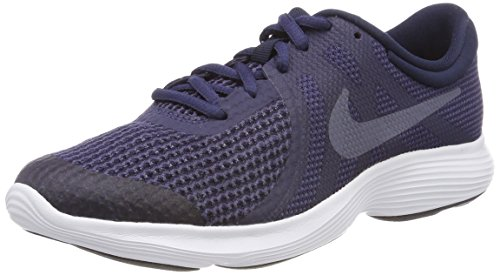 Nike Boys' Revolution 4 (GS) Running Shoe, Black/White-Anthracite, 4.5Y Youth US Big Kid (Boys Nike Free Running Shoes)