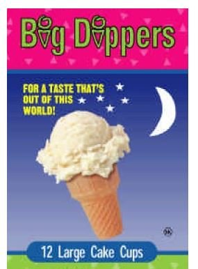 Big Dippers Ice Cream Cones, Large Cake Cups, 12ct, 2.57 Ounce ()
