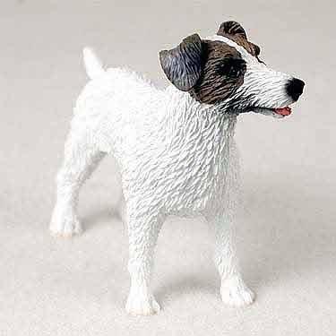Jack Russell Rough - Jack Russell Terrier Figurine Rough BrnW
