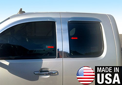 Made In USA! Works With 2007-2013 Chevy Silverado/GMC Sierra Extended/Crew Cab 4PC Stainless Steel Pillar Post Trim ()