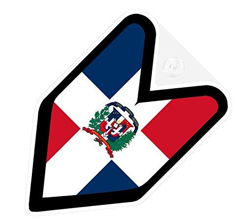 Dominican Republic Car - JDM Dominican Republic Flag Car Decal Wakaba Driver Badge not vinyl sticker