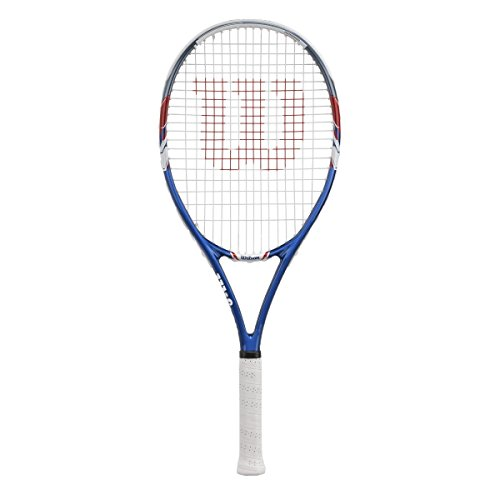 Wilson US Open Strung Tennis Racquet, 4 3/8-Inch, Blue/Gray