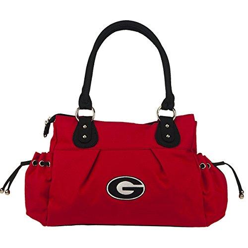(NCAA Georgia Bulldogs Cameron Polyester Handbag, Small )