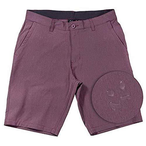 Hybrid Shorts for Men Quick Dry Stretch Lightweight Golf Short/Boardshort (Burgundy-32)