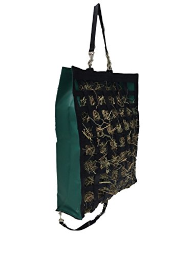 "The Original NibbleNet® 6"" deep w/ 1.5"""" Slow Feed Hay Bag by Thin Air Canvas, Inc. = Green"
