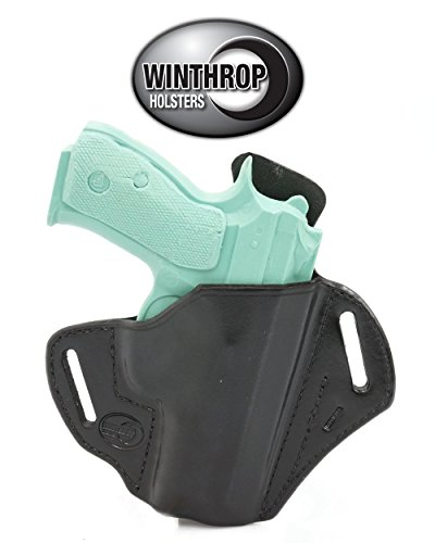 Holster 01 (Winthrop Holsters OWB Pancake Black Leather Holster (CZ P-01#1106))