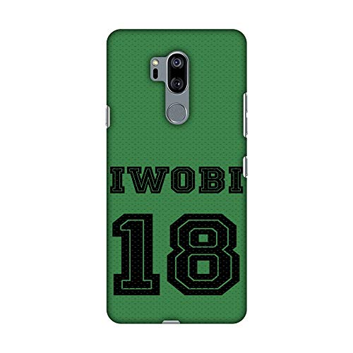 AMZER Slim Fit Handcrafted Designer Printed Snap on Hard Shell Case Back Cover Skin for LG G7, LG G7 ThinQ - Soccer - Iwobi Jersey HD Color, Ultra Light Back Case