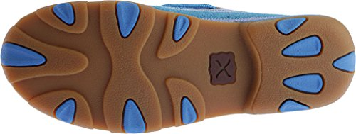 Twisted X Donne Blu Multicolore Tela Mocassino Guida Punta Moc - Wdm0048 Blu
